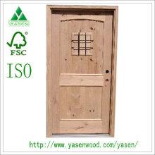 Porta de madeira maciça de Design elegante Exterior