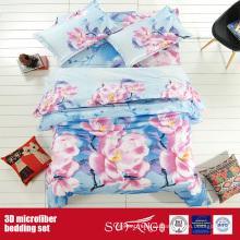 Impresión de lino de poliéster Big Flower Wholesale 3D Bed Sheet