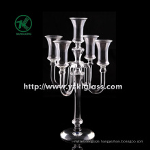 Glass Candle Holder for Home Decoration by BV (H: 34CM)