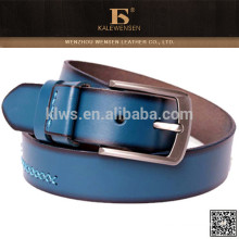 2015 competitivo produto quente azul luz couro cinto