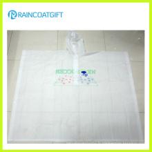 Poncho de pluie de PVC transparent