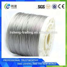 Cable de acero fabricado en China aisi 316 cable de acero inoxidable