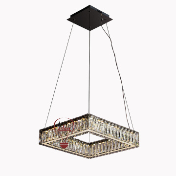 Lustre en cristal rectangle blanc Factory K9