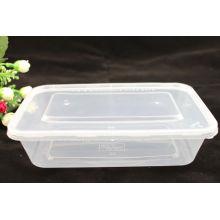 650ml PLA Disposible Plastic Rectangular Microwave Takeaway Container mit Deckel