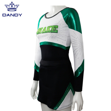 Benutzerdefinierte Mystique Sublimation Logo Cheer Uniformen