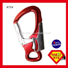 Large Aluminum Double Action Snap Safety Hook