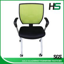 Cadeira giratória de malha verde H-DM10