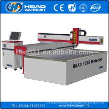 1500 * machine de découpe de tôle d'acier inoxydable de 2500mm par l'eau