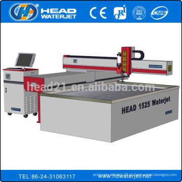 1500 * 2500mm máquina de corte de folha de aço inoxidável por água