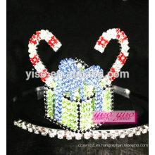 Tiara cristalina del desfile de la torta de la princesa oriental de la manera