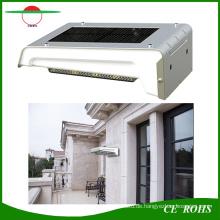 Wiederaufladbare 16LED solarbetriebene an der Wand befestigte helle PIR-Sensor-Solargarten-Lampe im Freien IP65 mit austauschbarer Batterie
