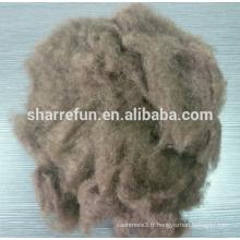 couleur marron foncé 100% fibre de yak épilée pure