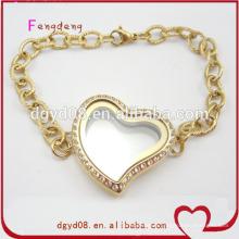 Mode vente chaude 24k bracelet en or bijoux en acier inoxydable