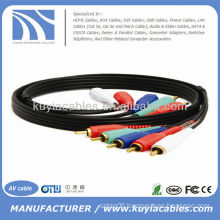 3FT COMPONENT VIDEO CABLE WITH AUDIO 5 RCA CABLE HDTV DVD VCR 3 FT