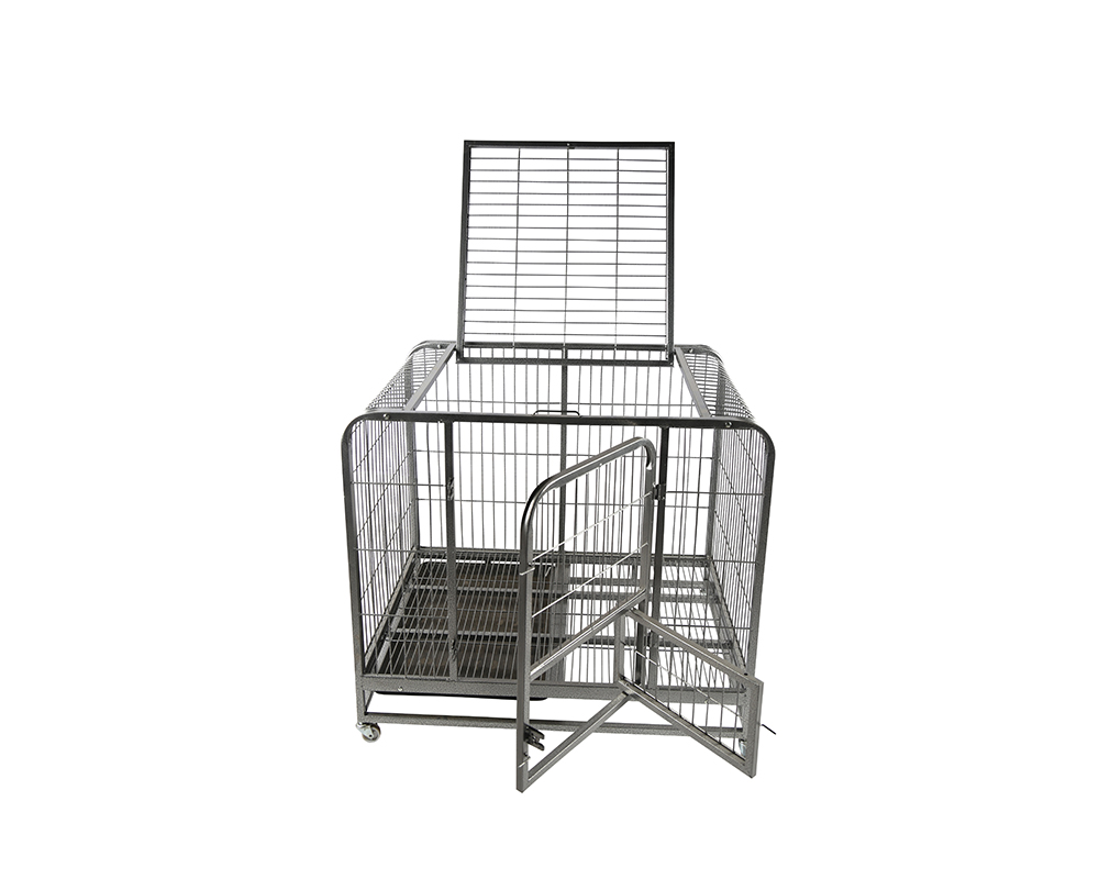 Rustproof Square Tube Pet Dog Cage