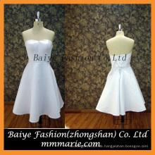 Satin Tight Kleider, neue Art 2016 Minikleid, trägerloses schnüren sich oben ein Linie Satin-kurzes Minikleid