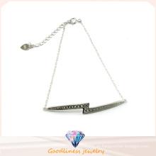 Fábrica de venta Niza Color joyas de moda Brillante pulsera de plata de piedra (Bt6572)