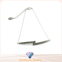 Фабрика продажа Ницца цвета Модные ювелирные изделия Сияющий камень Серебряный браслет (Bt6572)