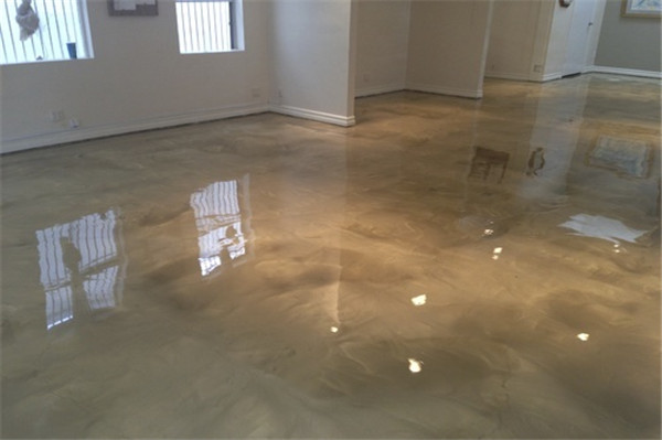 metallic flooring epoxy