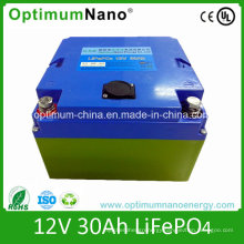 Rechargeable 12V Battery 12V 30ah LiFePO4 Battery for 400W Lawn Mower