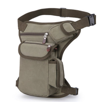 Motorcykel Vandring Canvas Tactical Belt Pouch Leg Bag