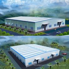 Bâtiment préfabriqué en acier de structure métallique d'entrepôt 001