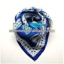 Модный квадратный шелковый платок и шарф