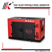 Luftgekühlter 4-takt zwei zylinder 15kva 3 phase Elektrische Tragbare China Diesel Generator Preis