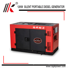 Air-cooled 4-stroke two cylinder 15kva 3 phase Electric Portable China Diesel Generator Price