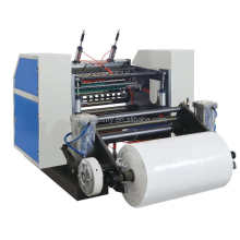 Automatic thermal paper roll slitter rewinder machine for making slitting roll of small paper rolls