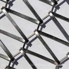 Malha de arame do transportador do fio liso do aço inoxidável