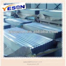 Hoja de techo corrugado galvanizado / hoja de techo de zinc precio alibaba china