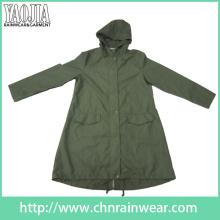 Yj-6204 Army Green Waterproof Raincoat Rain Gear pour hommes Femmes