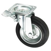 Серия колец для мусорных баков - Железное резиновое колесо с тормозом