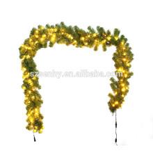 Зеленый цвет ПВХ Новогодняя гирлянда с лампочками