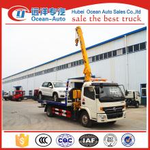 Dongfeng 4ton nuevo camión de las camas del wrecker para la venta