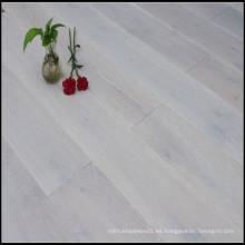 Suelo de roble de ahumado lavado blanco y ahumado