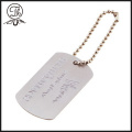 Silver id dog tags bijoux d'imitation