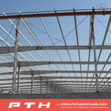 Entrepôt préfabriqué économique adapté aux besoins du client de structure métallique économique d'installation