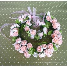 Lindo e encantador estilo Boêmio nupcial festão casamento acessórios para o cabelo, kid flor acessório do cabelo