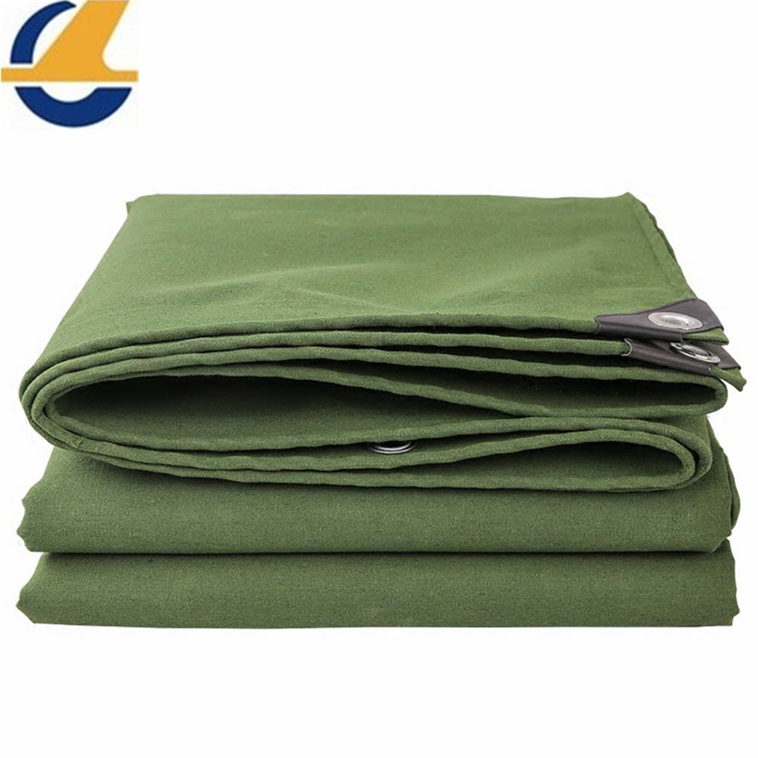 Green polyester canvas tarpaulins
