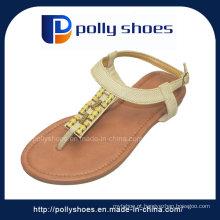 2016 moda verão senhoras sandália de couro