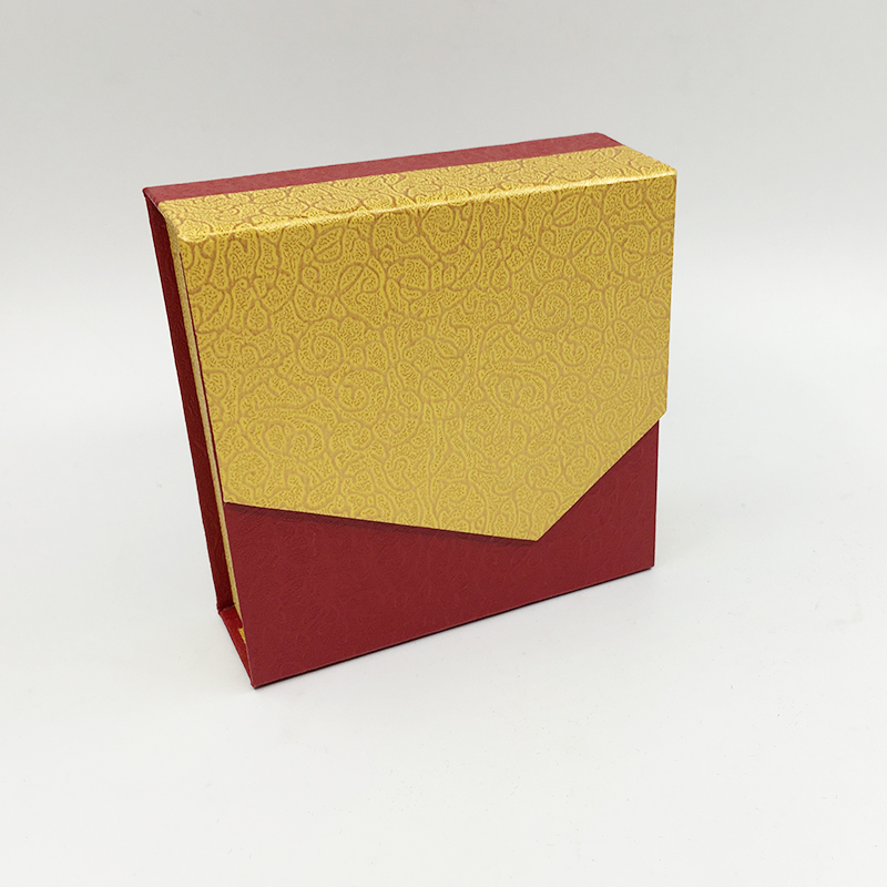 Flip-top Packaging Box for Jewelry Red Yellow