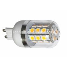 2015 NEUE CE und ROHS keramische Unterseite 3014 SMD G9 führte Lampe 10W mit Silikonabdeckung, 3 Jahre Garantie