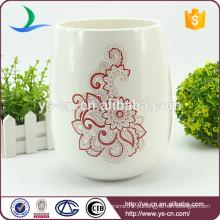 Decalque de flor vermelha lixo eco amigável cerâmica pode atacado