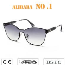 2019 New Arrival Stock low MOQ oversized vintage womens men fashion rimless sunglasses