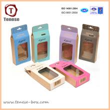 Caja colorida del embalaje del caramelo del fabricante con la ventana
