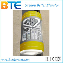 Eac 1000kg Good Decoration Panoramic Lift Without Machine Room