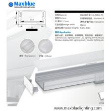 Boîtier profilé en aluminium de 23 x 10 mm pour éclairage à bande LED