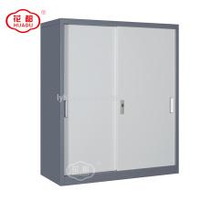 Huadu modern design half height sliding door garage filing storage wardrobe cabinet